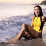 Realise Swimsuit at sunset with Francesca